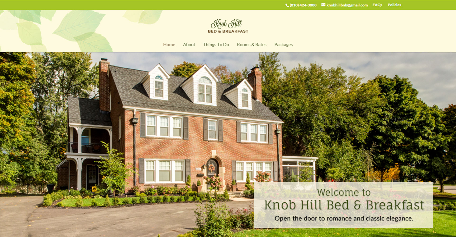 Knob Hill Bed and Breakfast - Zoda Design