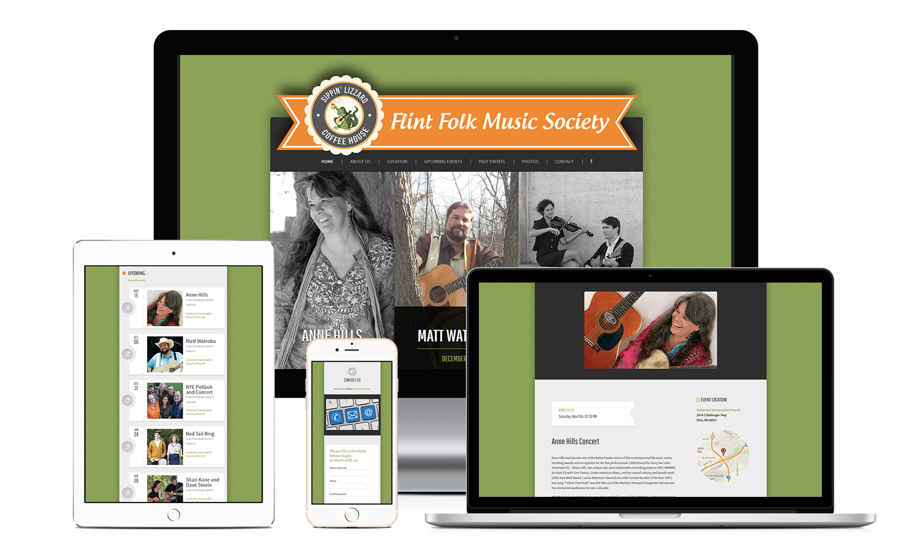 Flint Folk Music Society - Zoda Design