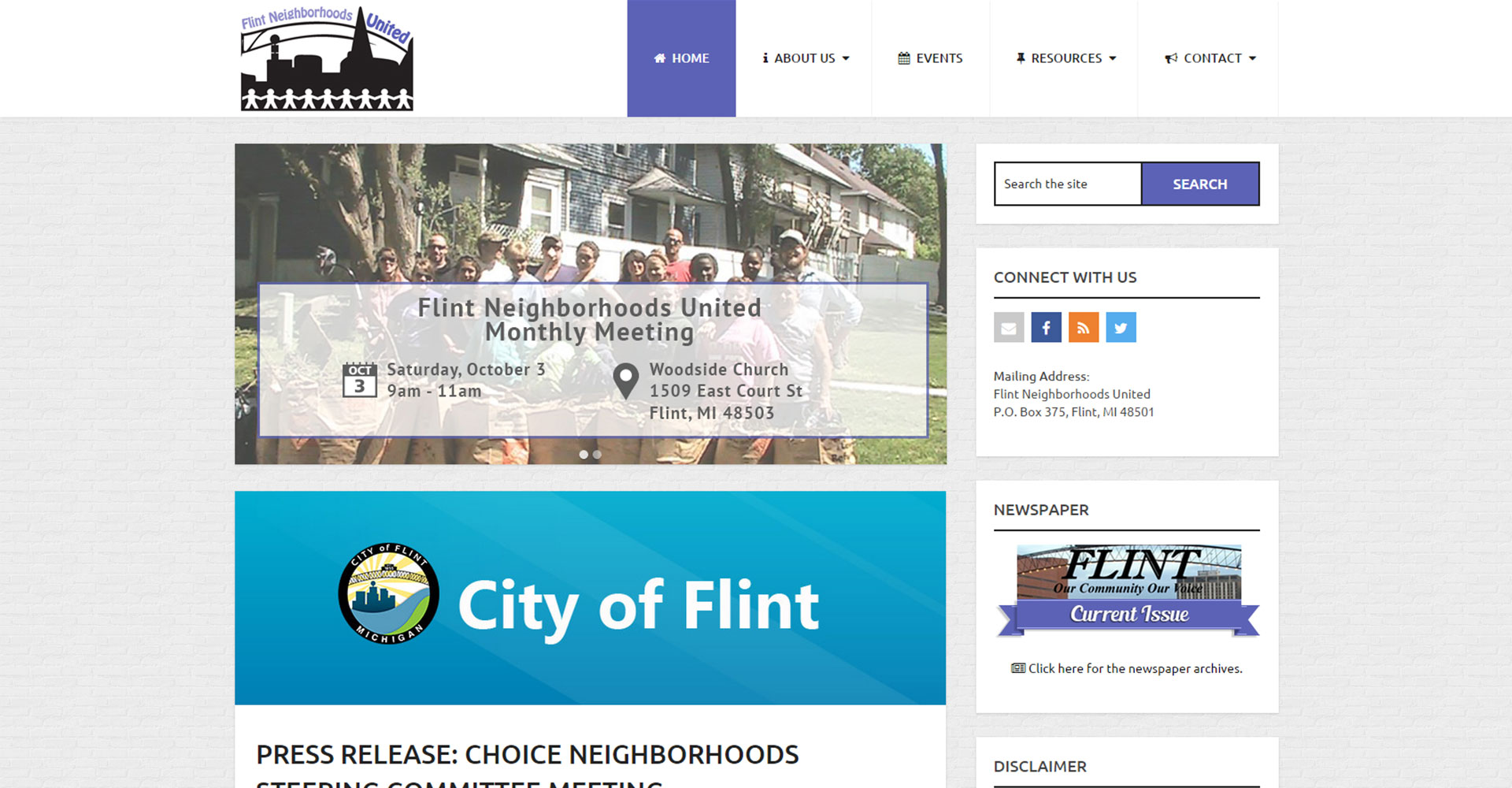 Flint Neighborhoods United - Zoda Design