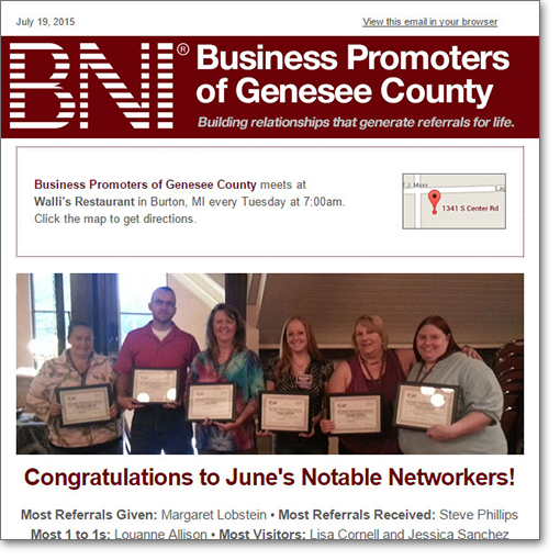 Business Promoters of Genesee County - Zoda Design