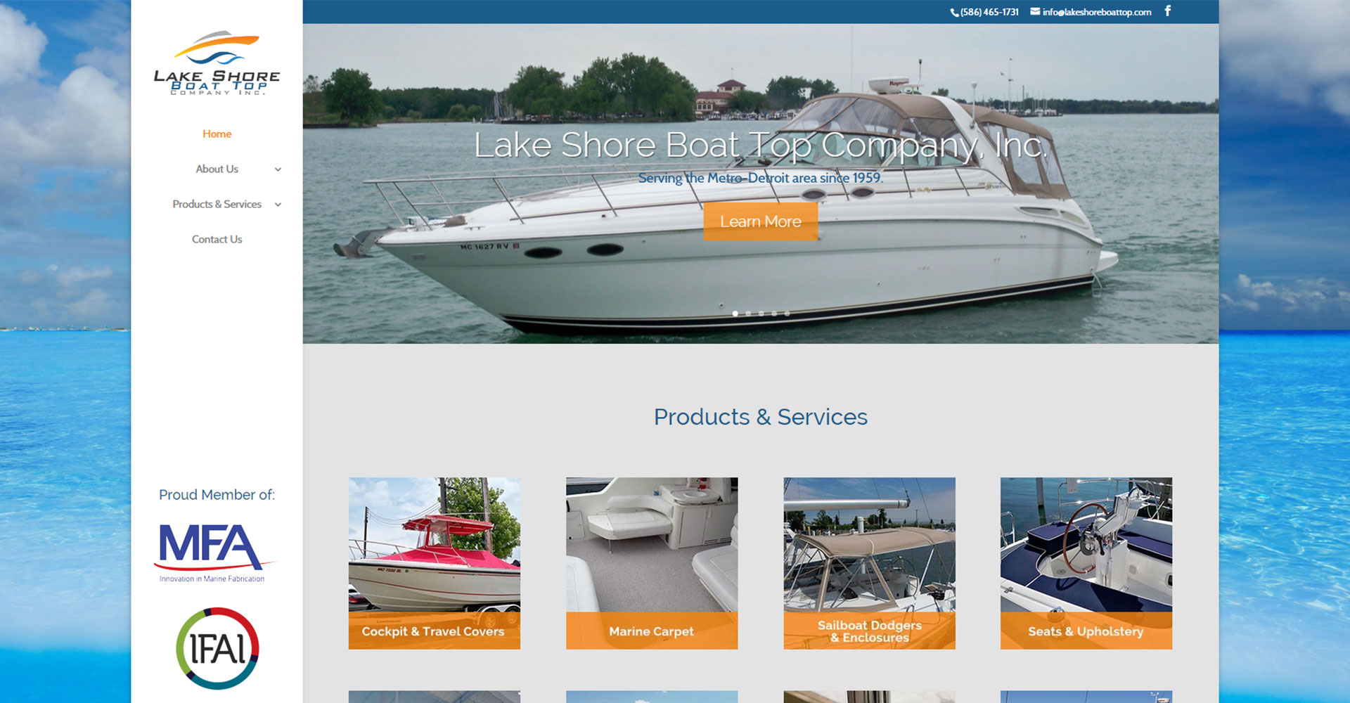 Lake Shore Boat Top - Zoda Design