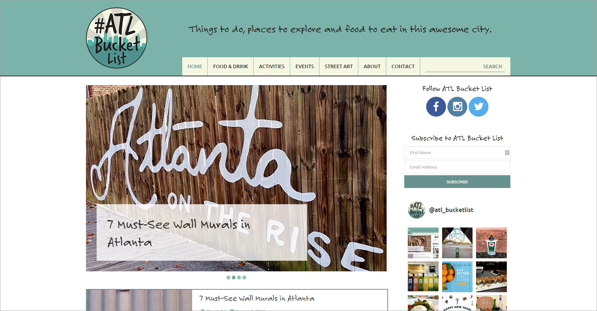 Atlanta Bucket List - Zoda Design