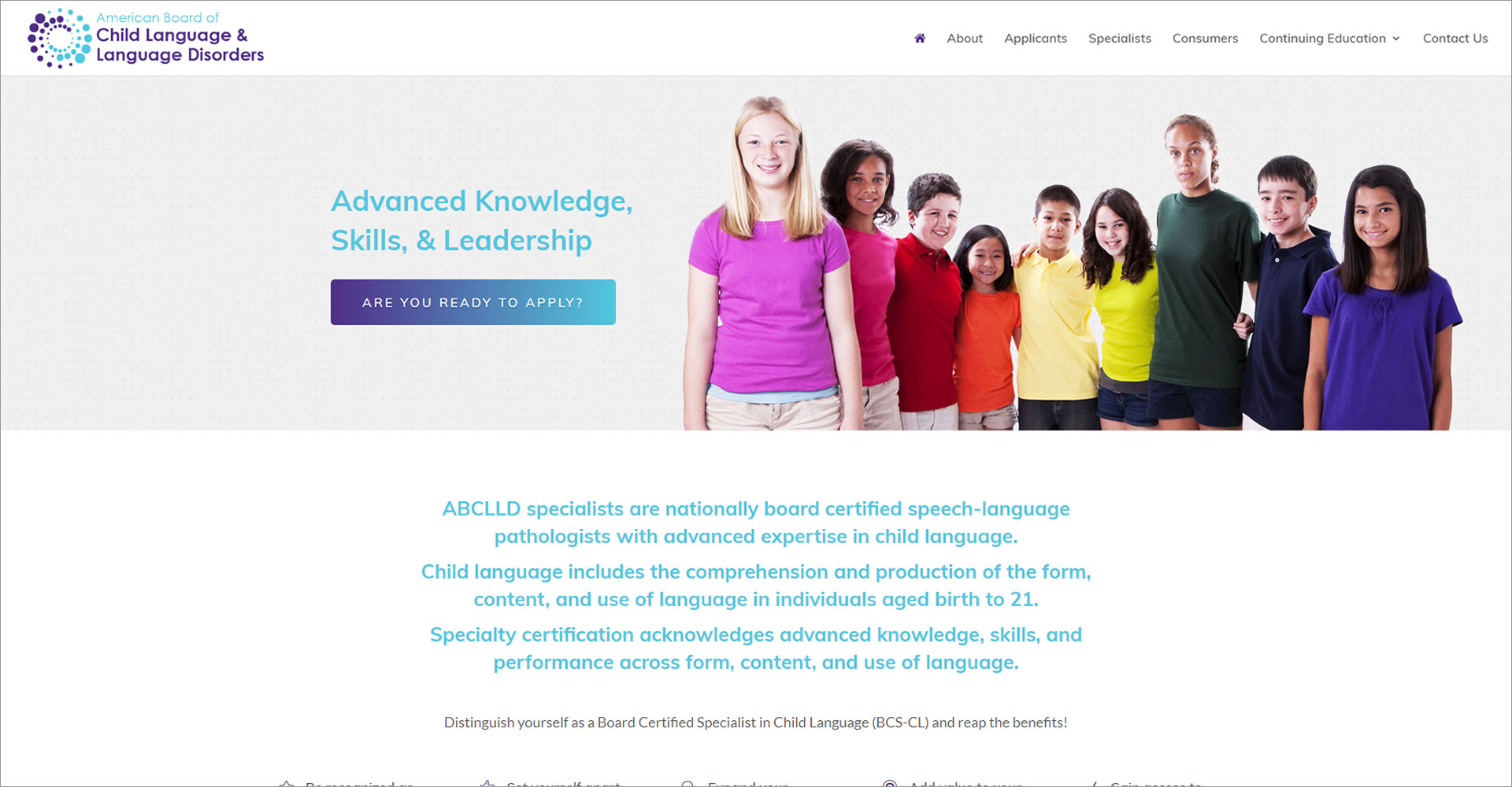 American Board of Child Language and Language Disorders - Zoda Design