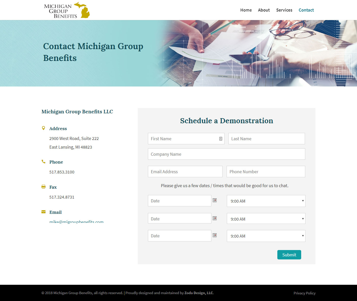 Michigan Group Benefits - Zoda Design